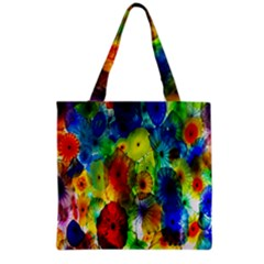 Green Jellyfish Yellow Pink Red Blue Rainbow Sea Grocery Tote Bag
