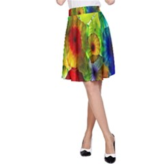 Green Jellyfish Yellow Pink Red Blue Rainbow Sea A Line Skirt
