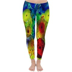 Green Jellyfish Yellow Pink Red Blue Rainbow Sea Classic Winter Leggings