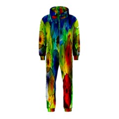 Green Jellyfish Yellow Pink Red Blue Rainbow Sea Hooded Jumpsuit (kids)