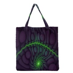 Light Cells Colorful Space Greeen Grocery Tote Bag by Alisyart