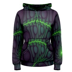 Light Cells Colorful Space Greeen Women s Pullover Hoodie