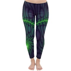 Light Cells Colorful Space Greeen Classic Winter Leggings