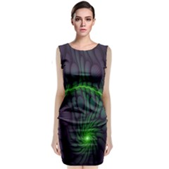 Light Cells Colorful Space Greeen Classic Sleeveless Midi Dress