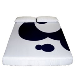 Month Blue Fitted Sheet (queen Size)
