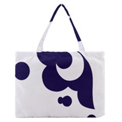Month Blue Medium Zipper Tote Bag