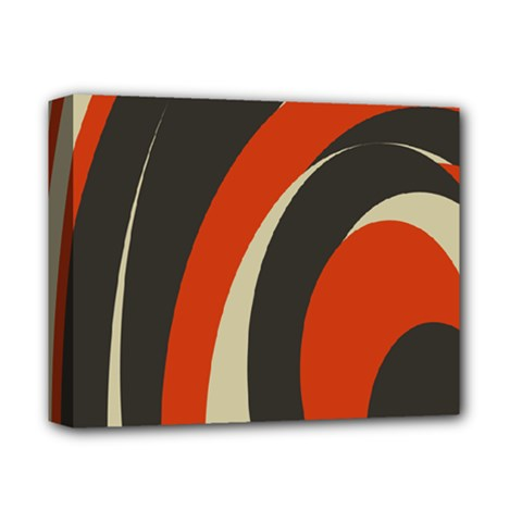 Mixing Gray Orange Circles Deluxe Canvas 14  X 11  by Alisyart