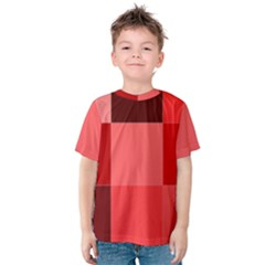 Red Flag Plaid Kids  Cotton Tee