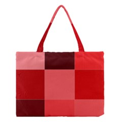 Red Flag Plaid Medium Tote Bag