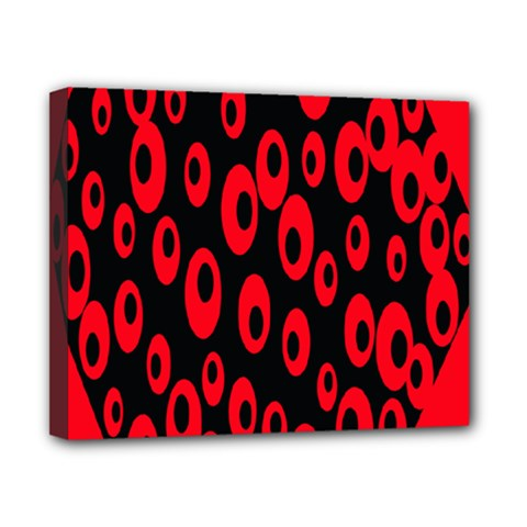 Scatter Shapes Large Circle Black Red Plaid Triangle Canvas 10  X 8