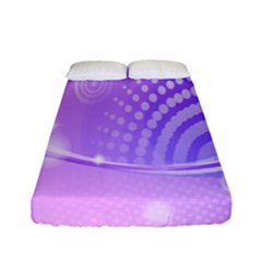Purple Circle Line Light Fitted Sheet (full/ Double Size) by Alisyart
