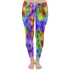 Green Jellyfish Yellow Pink Red Blue Rainbow Sea Purple Classic Winter Leggings