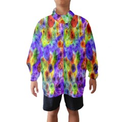 Green Jellyfish Yellow Pink Red Blue Rainbow Sea Purple Wind Breaker (kids)