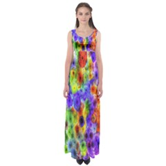 Green Jellyfish Yellow Pink Red Blue Rainbow Sea Purple Empire Waist Maxi Dress