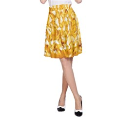 Honeycomb Fine Honey Yellow Sweet A Line Skirt