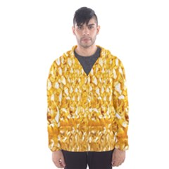 Honeycomb Fine Honey Yellow Sweet Hooded Wind Breaker (men)