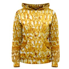 Honeycomb Fine Honey Yellow Sweet Women s Pullover Hoodie