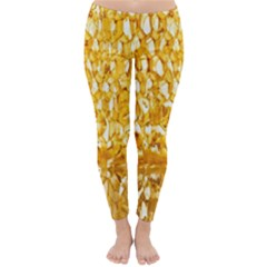 Honeycomb Fine Honey Yellow Sweet Classic Winter Leggings