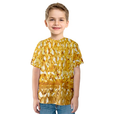 Honeycomb Fine Honey Yellow Sweet Kids  Sport Mesh Tee by Alisyart