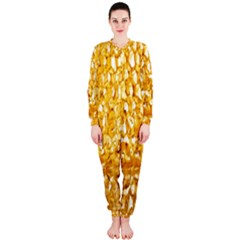 Honeycomb Fine Honey Yellow Sweet Onepiece Jumpsuit (ladies)  by Alisyart