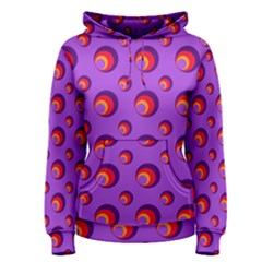 Scatter Shapes Large Circle Red Orange Yellow Circles Bright Women s Pullover Hoodie