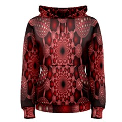 Lines Circles Red Shadow Women s Pullover Hoodie