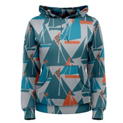 Ship Sea Blue Women s Pullover Hoodie