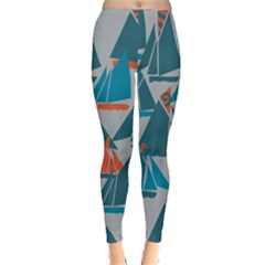 Ship Sea Blue Classic Winter Leggings