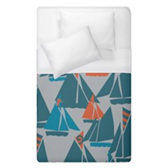 Ship Sea Blue Duvet Cover (single Size)