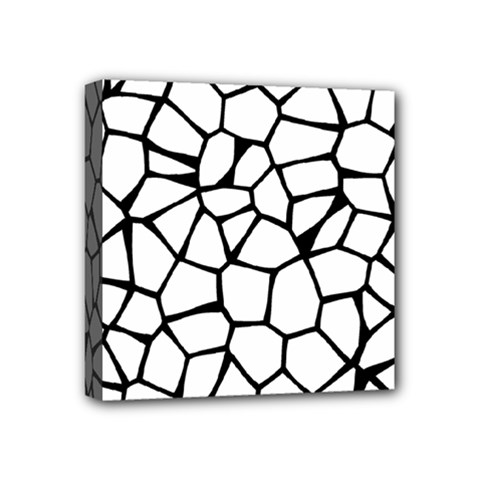 Seamless Cobblestone Texture Specular Opengameart Black White Mini Canvas 4  X 4  by Alisyart