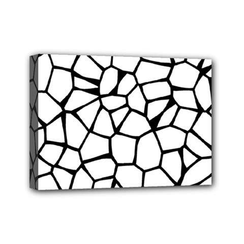 Seamless Cobblestone Texture Specular Opengameart Black White Mini Canvas 7  X 5  by Alisyart