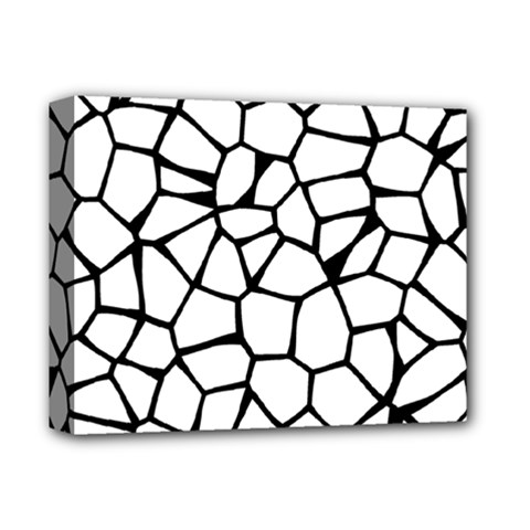 Seamless Cobblestone Texture Specular Opengameart Black White Deluxe Canvas 14  X 11  by Alisyart