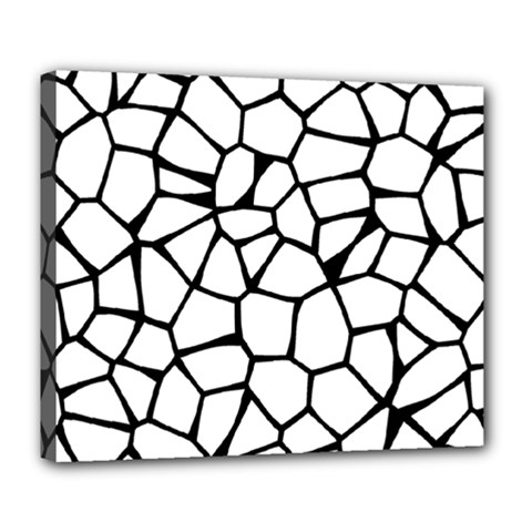 Seamless Cobblestone Texture Specular Opengameart Black White Deluxe Canvas 24  X 20   by Alisyart