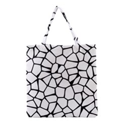 Seamless Cobblestone Texture Specular Opengameart Black White Grocery Tote Bag by Alisyart