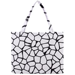 Seamless Cobblestone Texture Specular Opengameart Black White Mini Tote Bag by Alisyart