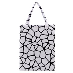 Seamless Cobblestone Texture Specular Opengameart Black White Classic Tote Bag by Alisyart