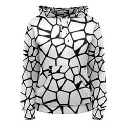Seamless Cobblestone Texture Specular Opengameart Black White Women s Pullover Hoodie