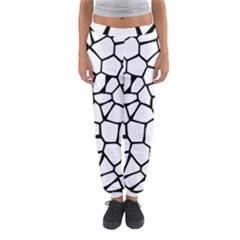Seamless Cobblestone Texture Specular Opengameart Black White Women s Jogger Sweatpants by Alisyart