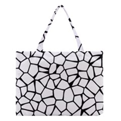 Seamless Cobblestone Texture Specular Opengameart Black White Medium Tote Bag by Alisyart