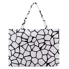 Seamless Cobblestone Texture Specular Opengameart Black White Medium Zipper Tote Bag by Alisyart