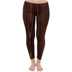Texture Seamless Wood Brown Classic Winter Leggings