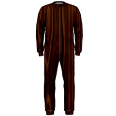 Texture Seamless Wood Brown Onepiece Jumpsuit (men)