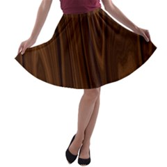 Texture Seamless Wood Brown A Line Skater Skirt by Alisyart