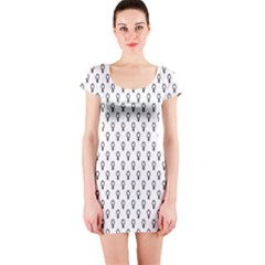 Woman Plus Sign Short Sleeve Bodycon Dress