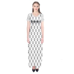 Woman Plus Sign Short Sleeve Maxi Dress