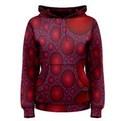 Voronoi Diagram Circle Red Women s Pullover Hoodie
