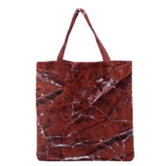 Texture Stone Red Grocery Tote Bag