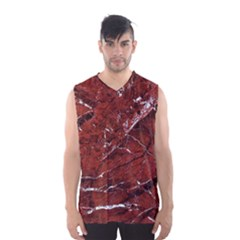 Texture Stone Red Men s Basketball Tank Top
