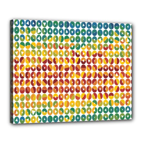 Weather Blue Orange Green Yellow Circle Triangle Canvas 20  x 16
