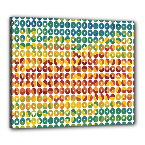 Weather Blue Orange Green Yellow Circle Triangle Canvas 24  x 20